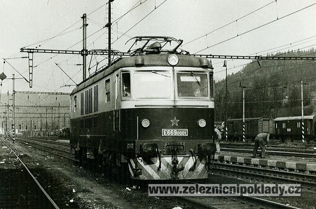 E 669.0001 Ústí nad Orlicí foto©Pavel Dvořák 26.4.1981